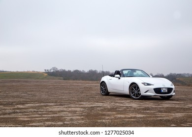 Istanbul/Turkey - March 10 2017 : Mazda MX-5 is a lightweight two-passenger roadster manufactured and marketed by Mazda.