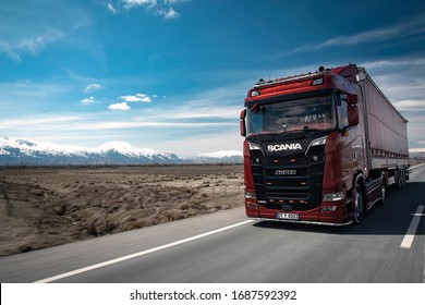 Istanbul/Turkey - March 26 2019 : Scania is a major Swedish manufacturer of commercial vehicles specifically heavy trucks and buses.