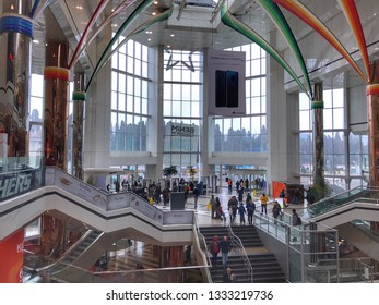Istanbul,Turkey - March 6,2019 Cevahir shopping mall that one of the most busy mall in the center of Istanbul in Turkey.