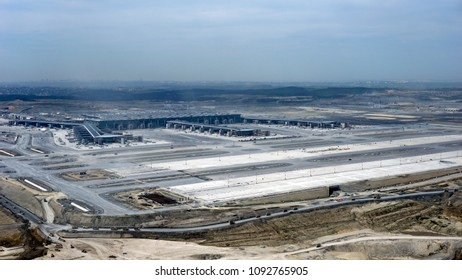 Istanbul/TURKEY, May 16, 2018: Istanbul's 3rd airport will be the largest airport in the world when construction is finished.