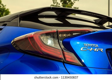 Istanbul/Turkey - May 17 2017 : Toyota C-HR Hybrid is a subcompact crossover SUV produced by Toyota.