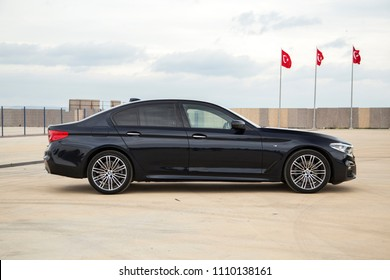 Istanbul/Turkey -May 18 2017 : BMW 5 Series is an executive car manufactured by BMW since 1972. It is the successor to the New Class Sedans and is currently in its seventh generation.