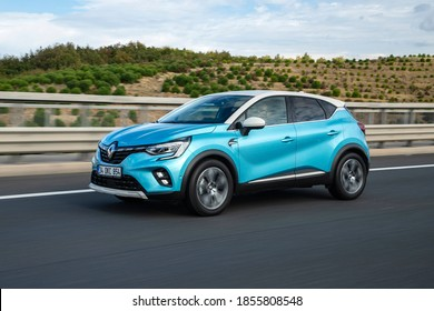 Istanbul/Turkey - November 1 2020 : Renault Captur is the name of subcompact crossover SUV manufactured by the French automaker Renault.