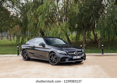 Istanbul/Turkey -November 21 2018 : Mercedes-Benz C-Class is a line of compact executive cars produced by Daimler AG.