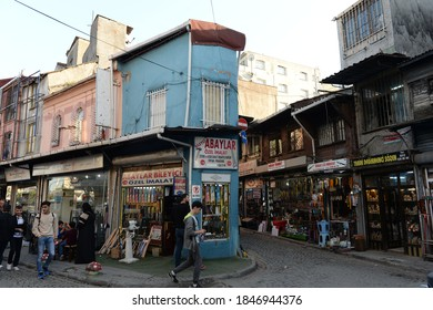 ISTANBUL,TURKEY - NOVEMBER 5, 2019:Trading numbers in the street Cantacilar in the urban area of Istanbul