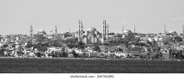 ISTANBUL,TURKEY OCTOBER 05 13:  Istanbul from the  Bosphorus strait is a narrow, natural strait and an internationally significant waterway located in northwestern Turkey.