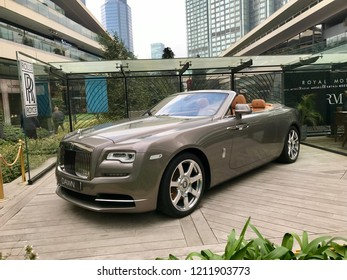 Istanbul,Turkey- October 24 ,2018:Rolls-Royce vehicles  parking in the Zorlu Shopping Mall.These cars are the ones of the most expensive vehicles in the world.