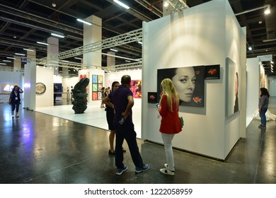 Istanbul/Turkey, September, 2018: 13th CI Contemporary Istanbul art fair, Turkey
