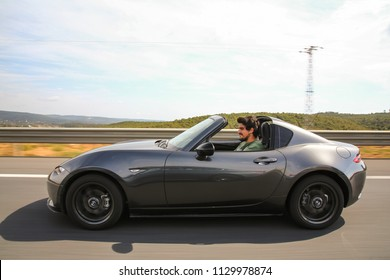 Istanbul/Turkey - September 25 2017 : Mazda MX-5, is a lightweight two-seater roadster with a front-engine, rear-wheel-drive layout.