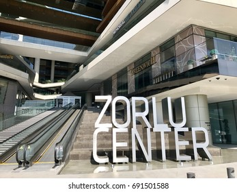 Istanbul,Turkey-August 07,2017:Zorlu shopping center in istanbul city.It is a complex of houses, hotels, business, shopping