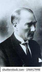 ISTANBUL-Turkey,Circa 1920's :Mustafa Kemal Ataturk founder Turkish Republic .Circa 1920's
