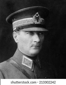 ISTANBUL-Turkey,Circa 1920's :Mustafa Kemal Ataturk founder Turkish Republic .Circa 1930's