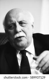 ISTANBUL,TURKEY-FEBRUARY 25,2017: Turkish politician Nabi Avci portrait on February   25 , 2017 in Istanbul, Turkey