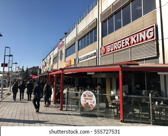ISTANBUL,TURKEY-JANUARY 13,2017:Omur Plaza shopping mall in Bahcelievler District