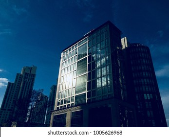 ISTANBUL,TURKEY-JANUARY 20,2018:Buildings in in Maslak. Maslak is a neighbourhood and one of the main business districts of Istanbul, Turkey, located on the European side of the city.
