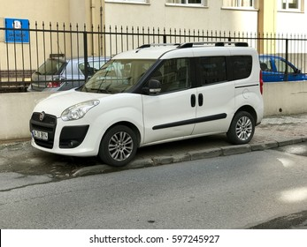 ISTANBUL,TURKEY-MARCH 07,2017:Fiat Doblo car parked in the street