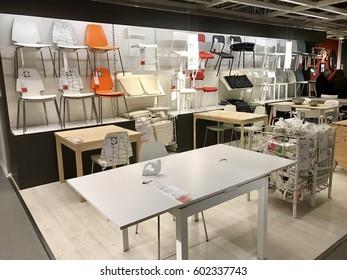 ISTANBUL,TURKEY-MARCH 11,2017:Ikea Store in Bayarampasa District.Interior view of furniture room inside IKEA store. IKEA is the world's largest furniture retailer.