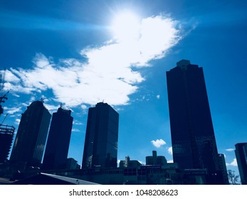 ISTANBUL,TURKEY-MARCH 14, 2018:Buildings and Skyscrapers in Maslak which a business oriented neighbourhood at business districts of Istanbul, Turkey, located on the European side of the city.