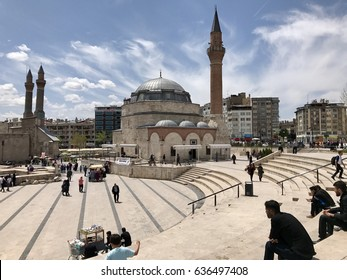 Istanbul,Turkey-May 06,2017:Kale mosque in Sivas city,Mehmet Pacha Mosque is a fine Ottoman mosque; it is known also as Kale Camii, which means mosque of the castle/fortress