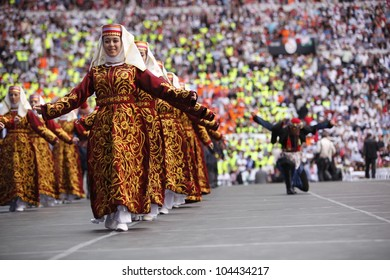 ISTANBUL,TURKEY-MAY 27,2012:The ruling AK Party' s fourth ordinary congress was held on May 27,2012 in Istanbul,Turkey.