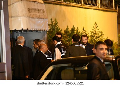 Istanbul,Turkey-October 15,2018: A Turkish crime scene investigation team member leaves as he and other team members completed the inspection of the Consulate General of Saudi Arabia.
