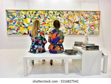 Istanbul/Turkey-September 11, 2019: Contemporary Istanbul is the leading annual art fair in Turkey.