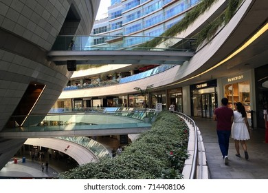 ISTANBUL,TURKEY-SEPTEMBER 13,2017:Kanyon shopping center.Kanyon is a multi-purpose complex located on the Buyukdere Avenue in the Levent business district of Istanbul, Turkey