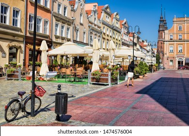 istorical city center in opole, poland