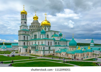 ISTRA, MOSCOW REGION, RUSSIA  - JUNE 11, 2018: Resurrection New Jerusalem Monastery.