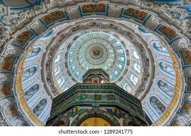 Istra, Russia - June 29, 2018: Interior of the New Jerusalem Monastery in Istra, Russia. It  is a major monastery of the Russian Orthodox Church in Moscow Oblast, Russia.