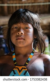 Itacaja, Tocantins / Brazil - March 10th 2016: Life in the Kraho indigenous community Aldeia Pé de Coco, northern areas of Cerrado, they face threat of violence and land demarcation issues