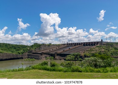 The Itaipu Dam is a hydroelectric dam on the Paraná River located on the border between Brazil and Paraguay.