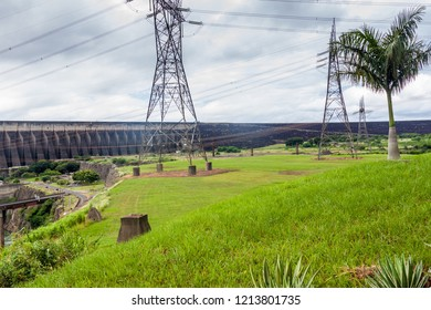Itaipu dam on river Parana on the border of Brazil and Paraguay