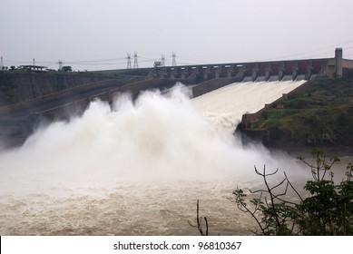 Itaipu dam, parana river, Brasil, Paraguay