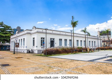 Itajai, Santa Catarina, Brazil - February 22th, 2018: The Casa de Cultura Dide Brandao at the downtown of Itajai, Santa Catarina, Brazil.