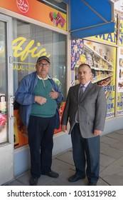 ITAKESKUS, HELSINKI, MAY 4 2017. Two immigrants in Puhos shopping centre in Itakeskus, Helsinki on May 4 2017.