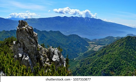 Italian Alps-view from the pass Tremalzo