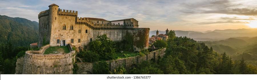 Italian castle in tuscany, Fosdinovo Castle is near to the sea