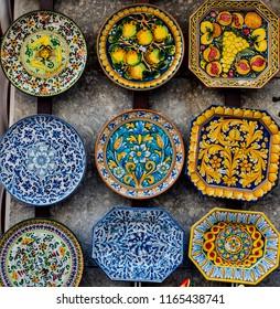 Italian ceramic dishes