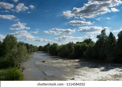 Italian Chiese River in the Po Valley