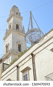 Italian city Lecce Is well known as Florence of the South because of large number of architectural in barogue style.View of Belltower of Lecce Cathedral (Duomo di Lecce)