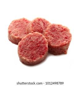 italian cotechino sausage on white background
