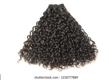 Italian curly black human hair weaves extensions bundle