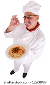 Italian and delicious spaghetti plate, clipping path included