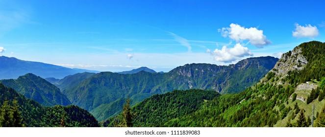 Italian Dolomites- panoramic view from the Tremalzo