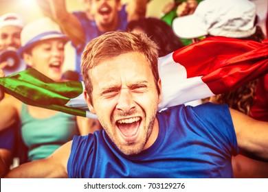 Italian Fan at the Stadium, Soccer Championship
