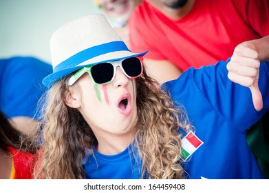 Italian Fan - Stock Image