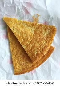 Italian farinata ( food with chickpea flour)