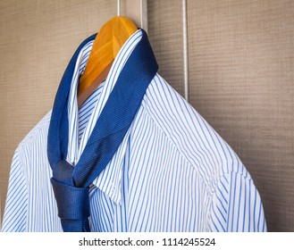 Italian fashion - business shirt, classical dresscode, ready for a business trip.