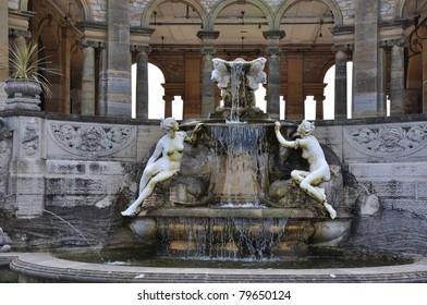 Italian Fountain in Hever Castle gardens